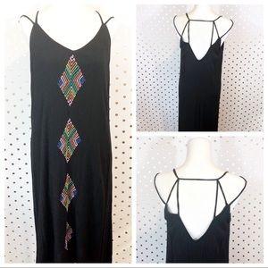 Bohemian Print Maxi Dress D0164